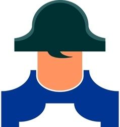 Napoleon Bonaparte cartoon character vector
