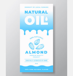 Natural oil abstract packaging design vector