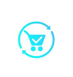 Order processing icon vector