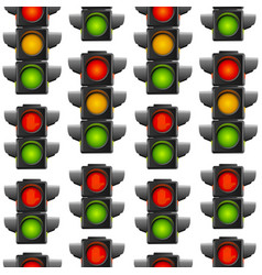 realistic detailed 3d road traffic light seamless vector image