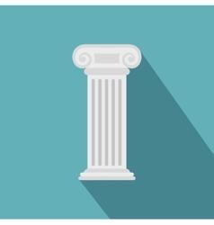Roman column icon flat style vector image