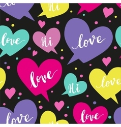 Romantic concept seamless pattern with colorful vector