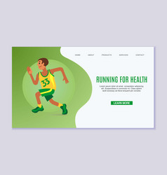 Running young man online vector
