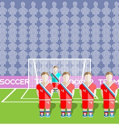 Russia Soccer Club Penalty on a Stadium vector