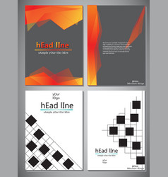 set of 4 template of book cover for vector image