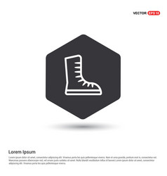skating shoe icon vector image
