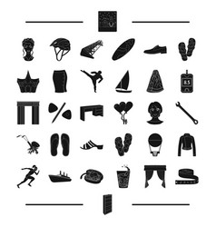 Sports wedding shoes and other web icon in black vector