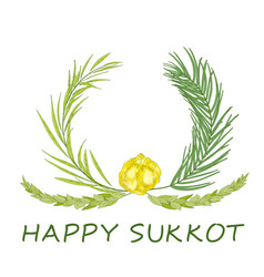 Sukkot jewish holiday background vector