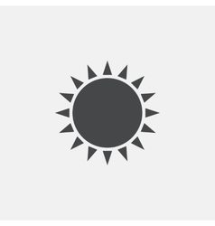 Sun icon Sunlight summer symbol vector image