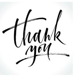 thank you modern calligraphy vector image