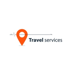 Travel agency services logo vector