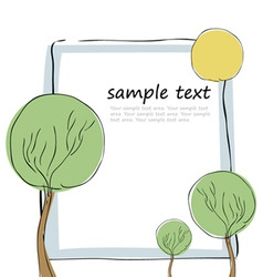 tree and frame vector image