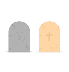 two simple tombstone icon vector image