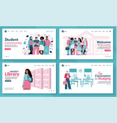 University education and students community vector