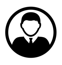 user icon male person symbol profile avatar vector image