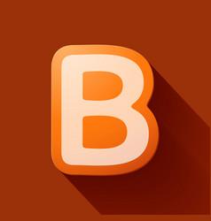 Volume icons alphabet b vector
