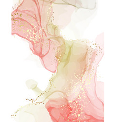 watercolor resin art pinting fine art alcohol ink vector image