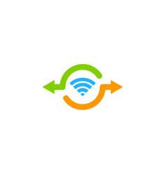 Wifi share logo icon design vector