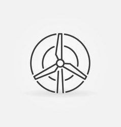 Wind turbine icon vector