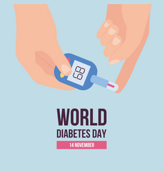 world diabetes day banner template with glucose vector image