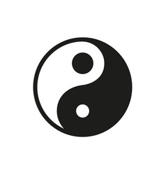 yin yang icon on white background vector image