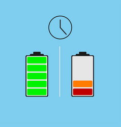 battery different power status vector image vector image