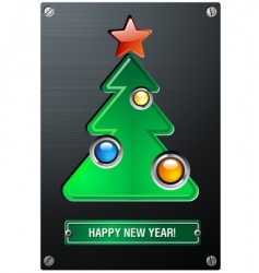 industrial Christmas tree vector image vector image
