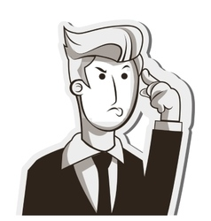 man in suit thinking icon vector image