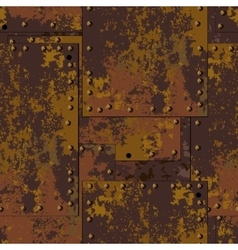 Rust plate background vector image