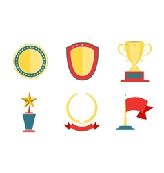 Award badges collection vector image vector image