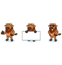 Bison Mascot happy vector image vector image