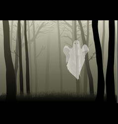 creepy woods vector image vector image