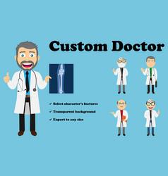 Custom doctor lab coat vector