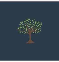 Decorative simple tree vector image vector image