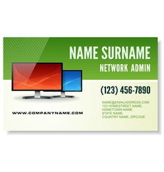 information technology business card vector image vector image