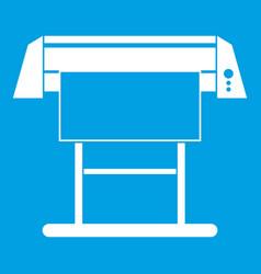 large format inkjet printer icon white vector image vector image