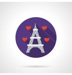 Round flat color romantic travel icon vector image