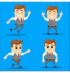 Set of businessman cartoon - vector image