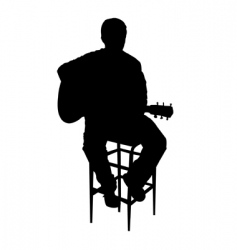 acoustic guy vector image vector image