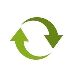 arrow recycle envioment nature energy design vector image