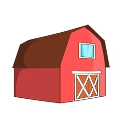 Barn for animals icon cartoon style vector image vector image