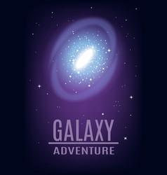 Cosmic galaxy adventure background vector