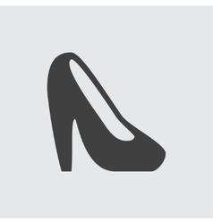 Heel shoe icon vector image