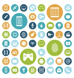 icons for technology and media vector image