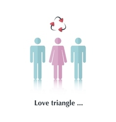 Love Triangle vector image vector image