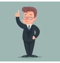 Pointing up Finger Businessman Idea Solution vector image vector image