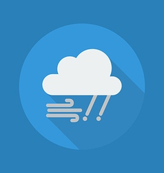 Weather Flat Icon Rainy and Windy vector image vector image