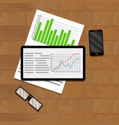 economic and financial statistics vector image vector image