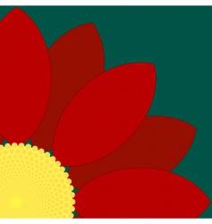 flower quarter vector image
