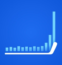 hockey stick in business vector image